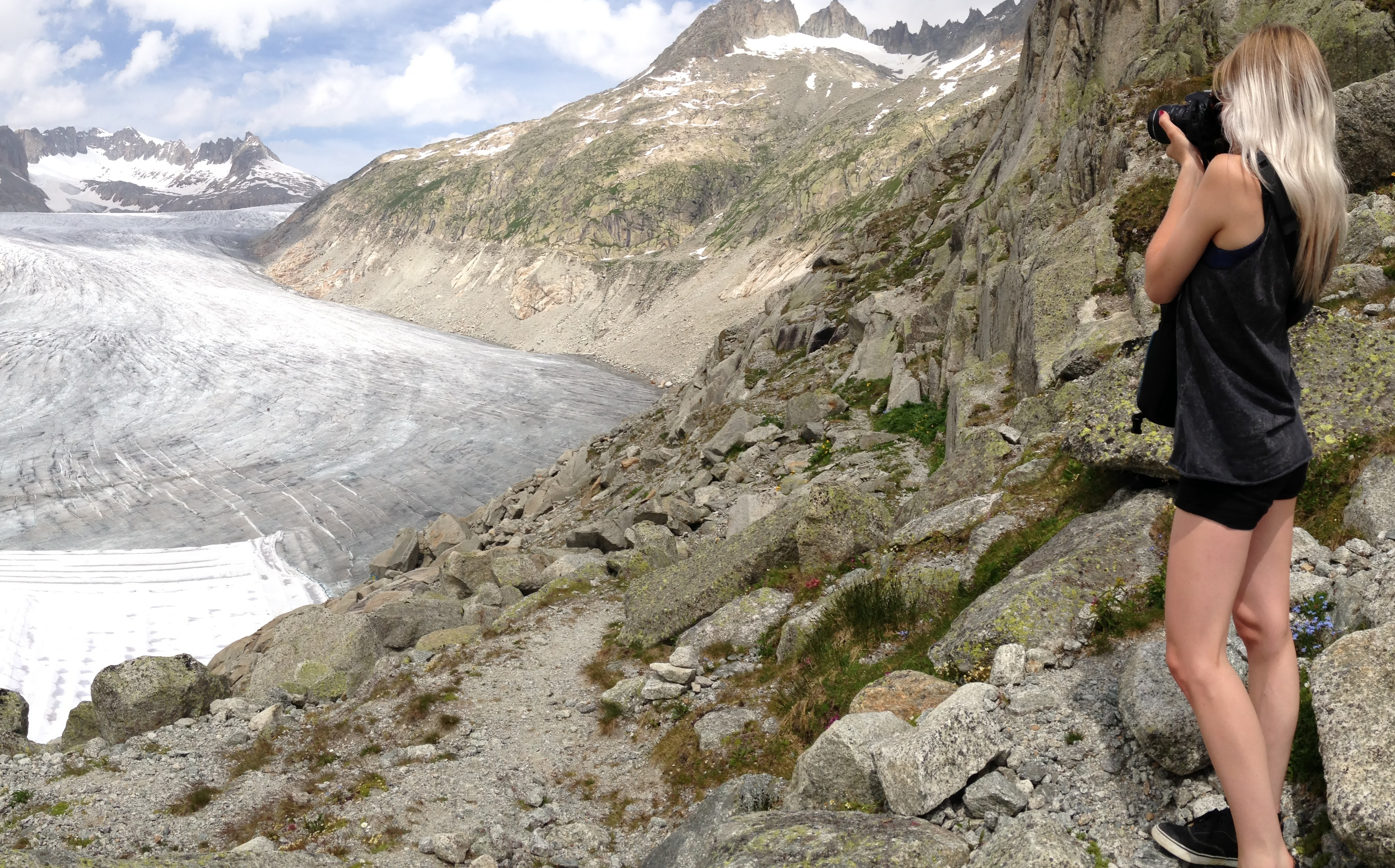 Der Rhonegletscher vom Furkapass aus