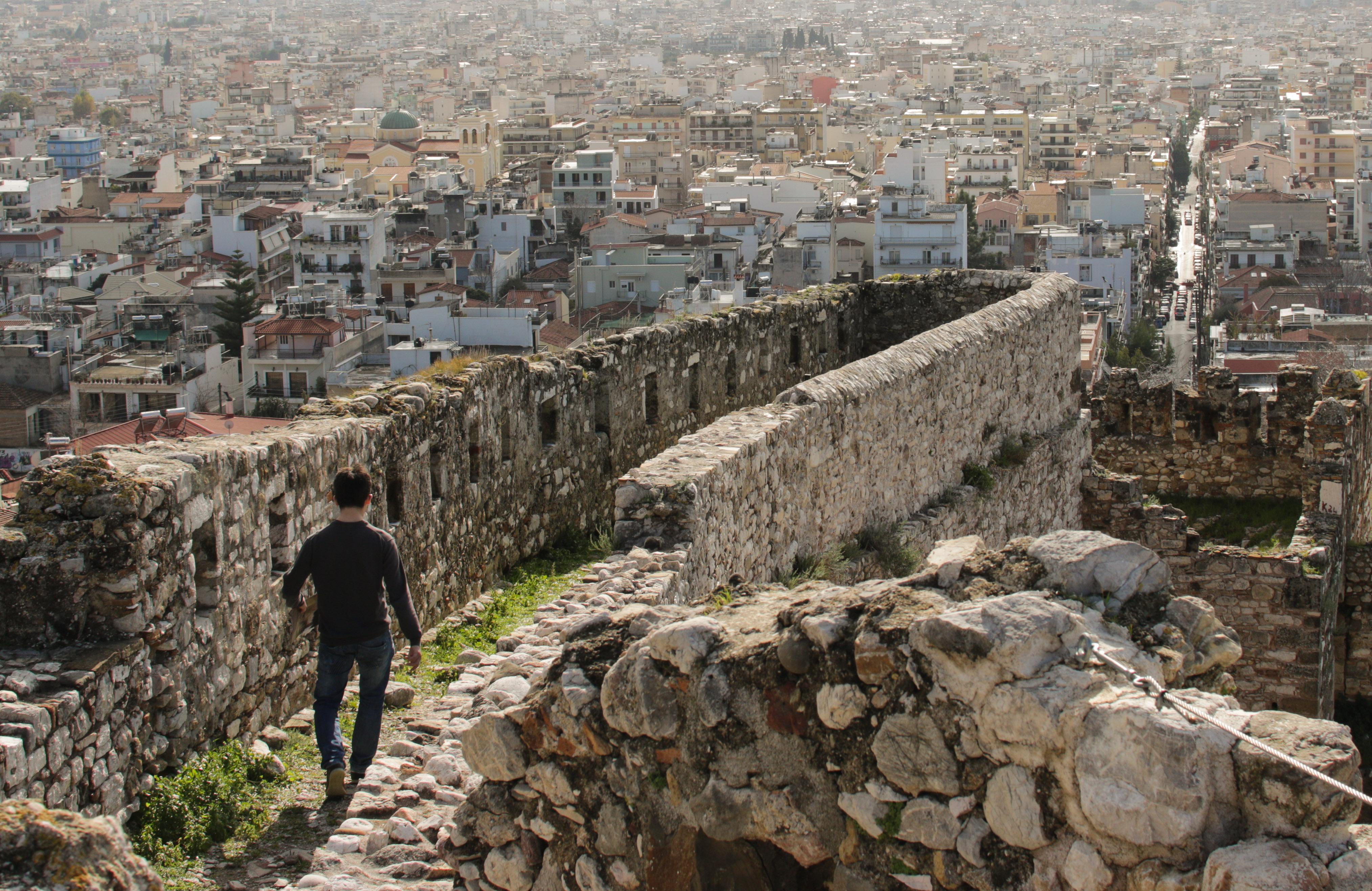Freitagsbloggers Auf der Festung von Patras.