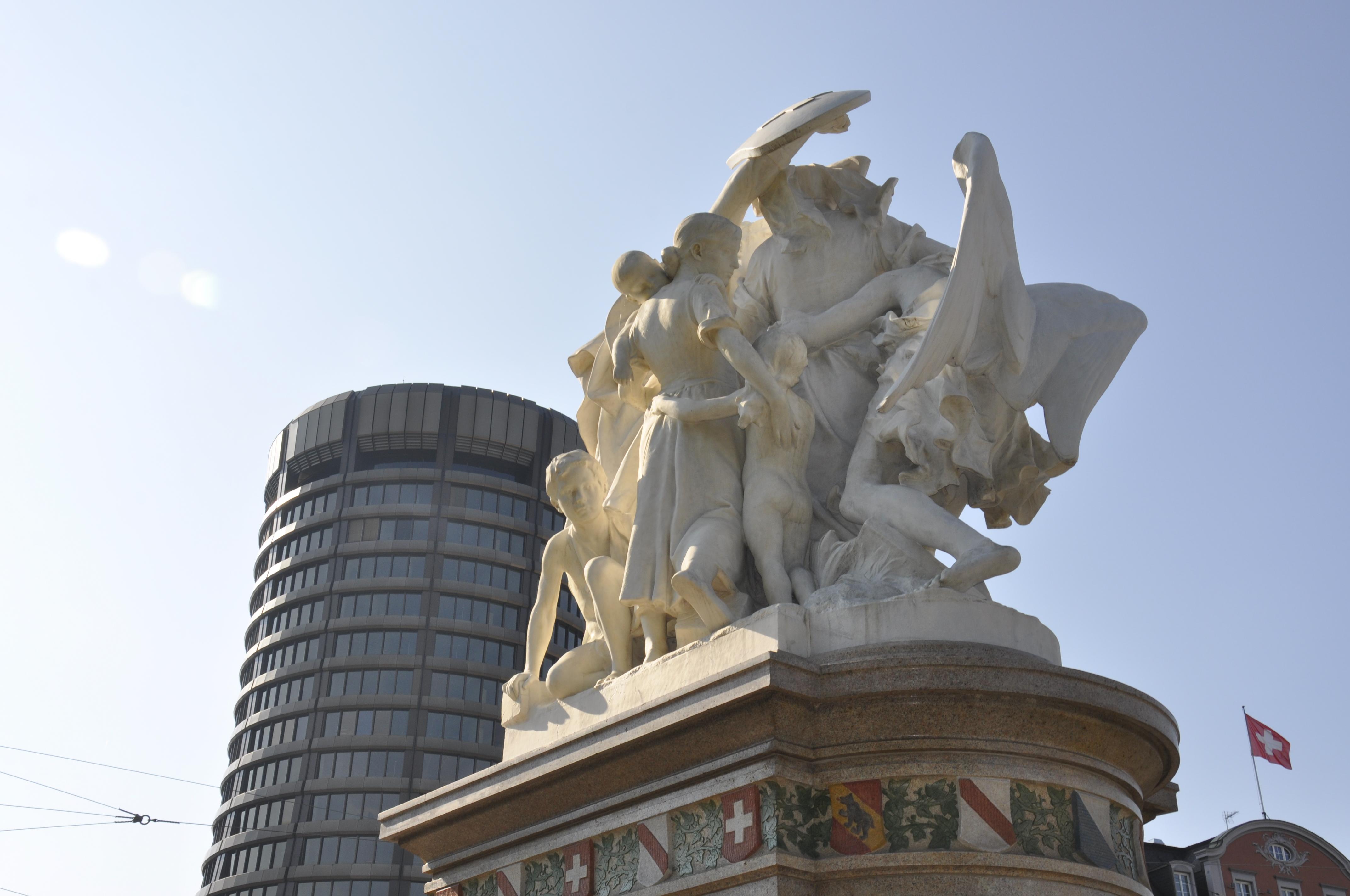 Strassburger Denkmal von Frédéric Bartholdi im De-Wett Park in Basel